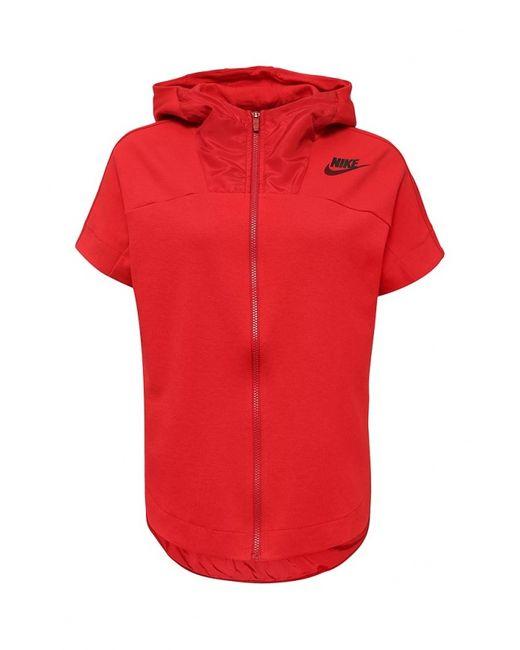 Nike | Красная Толстовка
