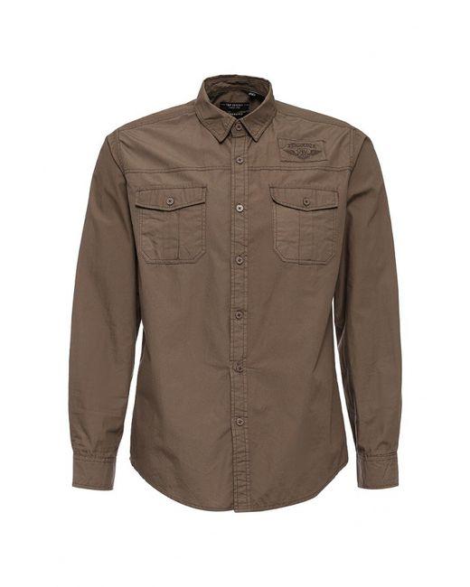 Top Secret | Мужская Коричневая Рубашка