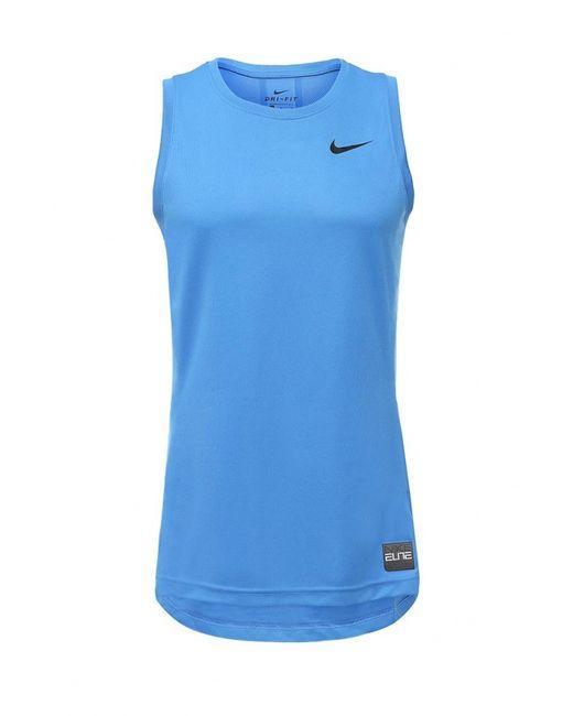 Nike   Мужская Синяя Майка Спортивная