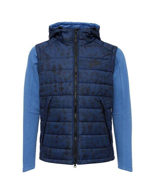 Nike | Мужская Синяя Куртка Утепленная