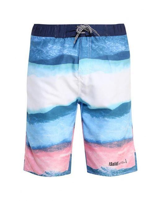 Solid   Мужские Многоцветные Шорты Для Плавания