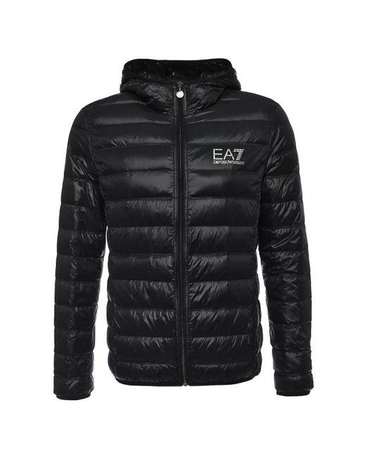 EA7   Мужской Чёрный Пуховик