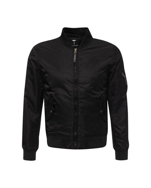 Tony Backer | Мужская Чёрная Куртка Утепленная