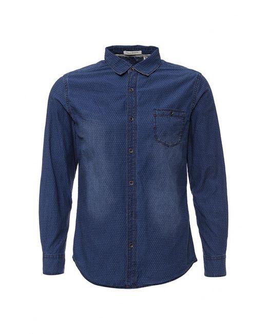 Tony Backer | Мужская Синяя Рубашка Джинсовая