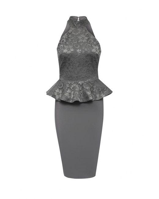 City Goddess | Женское Серое Платье