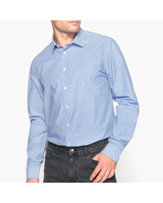 R essentiel | Мужская Белая Хлопковая Рубашка