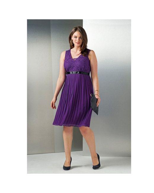 TAILLISSIME | Женское Фиолетовое Платье С Запахом