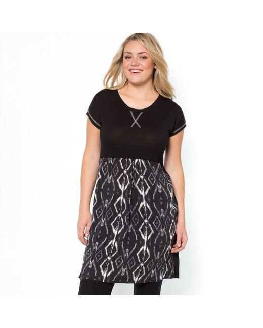 TAILLISSIME   Женское Чёрное Платье С Эффектом 2 В 1