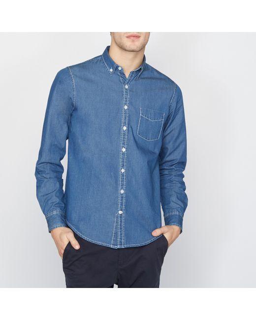 R essentiel | Мужская Синяя Рубашка