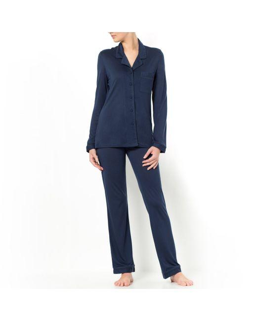 LOUISE MARNAY   Женская Синяя Пижама Из Модала