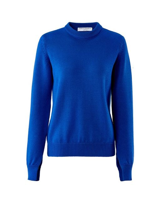 CORALIE MARABELLE POUR LA REDOUTE | Женский Синий Пуловер С Длинными Рукавами 100 Шерсти