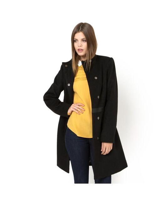 MADEMOISELLE R | Женское Чёрное Пальто С Воротником-Стойкой