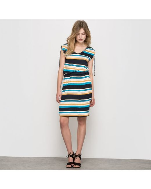 Мини-цена | Женское В Полоску Платье Из Трикотажа