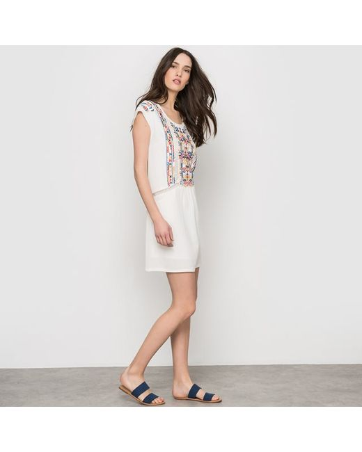 See U Soon | Женское Экрящее Платье Без Рукавов Пластрон С Вышивкой