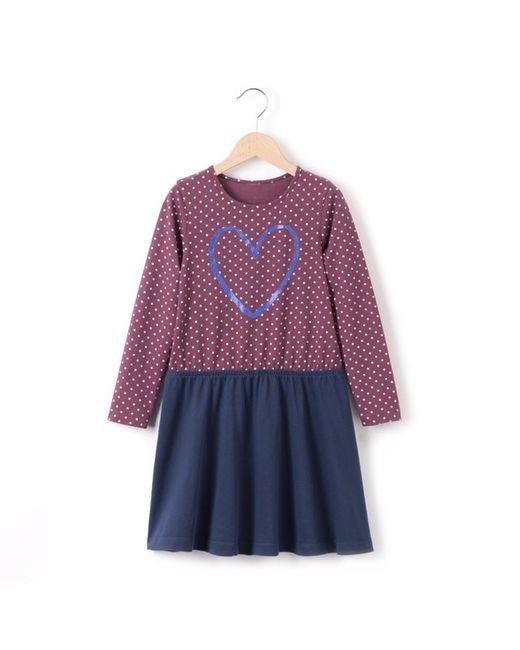 Мини-цена | Наб. Рисунок/ Наб. Рисунок Платье Двухцветное С Длинными Рукавами