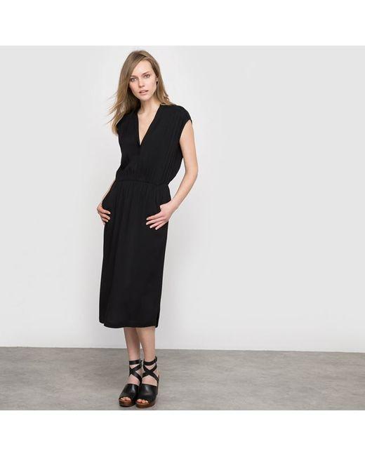 LAURA CLEMENT | Женское Розовое Платье Со Складками Из Вискозы