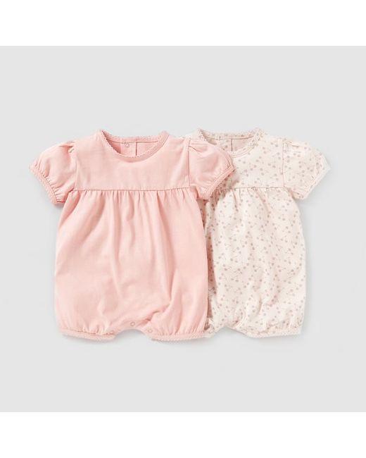 Мини-цена   Розовый Комбинезон Из Джерси Комплект Из 2 Штук