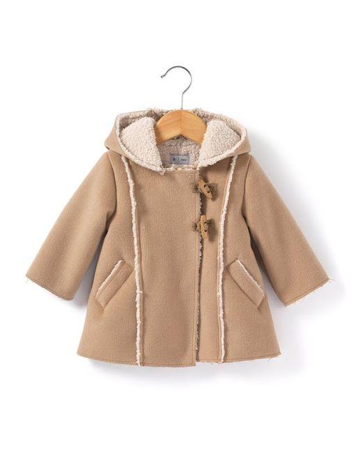 R baby   Бежевое Пальто На Подкладке Из Шерпы