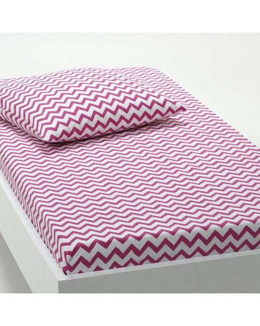 La Redoute Interieurs | Розовая Натяжная Простыня С Рисунком Tiger 100 Хлопка