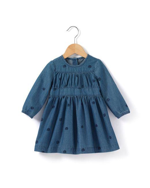 R baby   Синее Платье Джинсовое С Небольшим Принтом