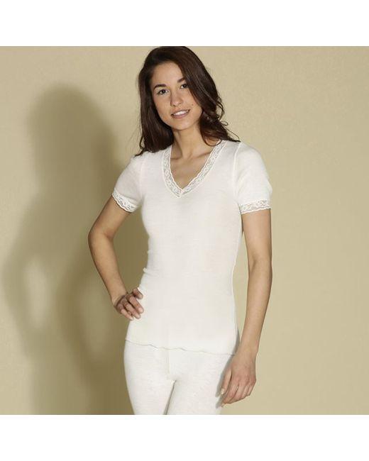 ARMOR LUX | Женская Бежевая Рубашка С Короткими Рукавами