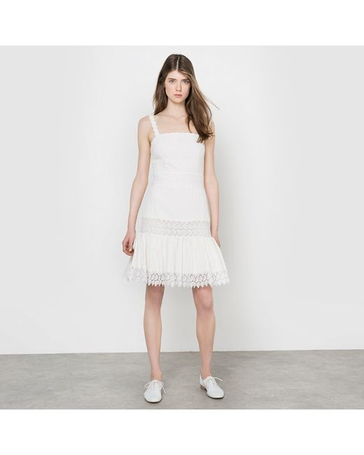 DELPHINE MANIVET X LA REDOUTE MADAME | Экрящее Платье Короткое С Бретелями