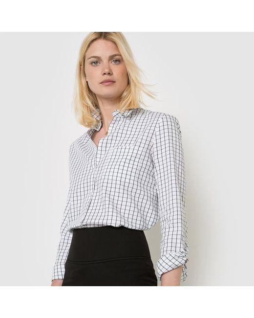 R essentiel   Женская Синяя Рубашка В Полоску Из Хлопка
