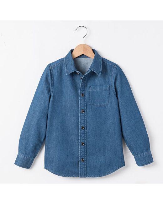 R essentiel   Синяя Рубашка Из Денима 3-12 Лет