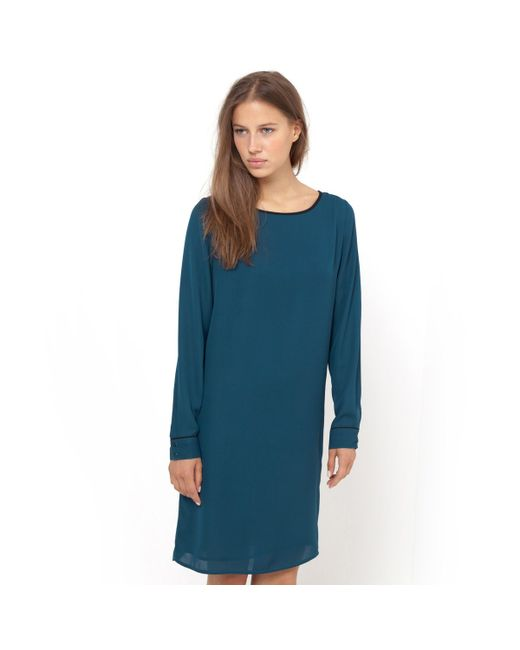 R essentiel   Женское Чёрное Платье С Длинными Рукаквами