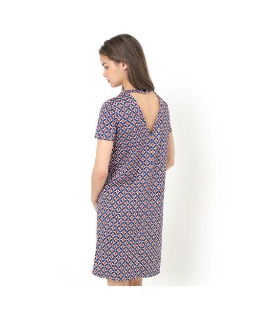 MADEMOISELLE R | Женское Красное Платье С Рисунком