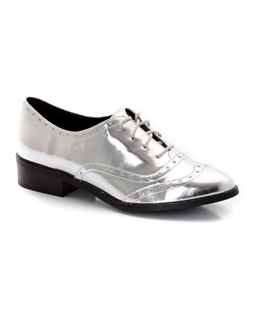 Мини-цена | Женские Серебристые Ботинки-Дерби