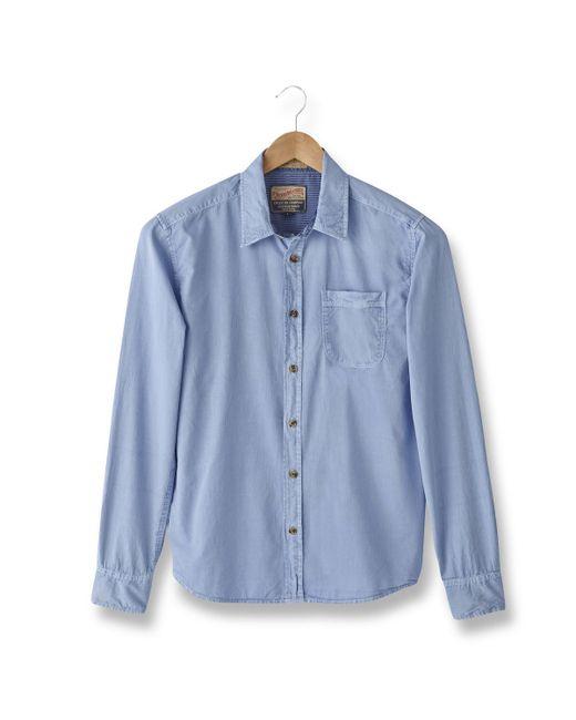 PETROL INDUSTRIES   Мужская Синяя Рубашка В Полоску Мужская