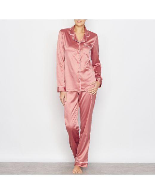 LOUISE MARNAY   Женская Розовая Пижама Из Атласа