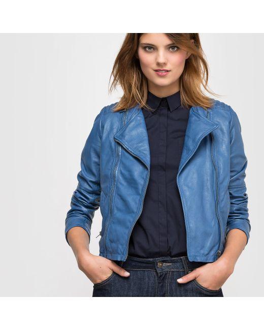 R essentiel | Женский Синий Блузон Кожаный