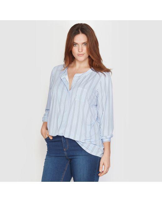 TAILLISSIME | Женская Синяя Блузка Из Трикотажа