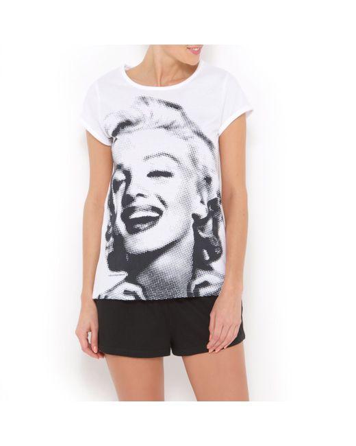 Vintage | Женская Чёрная Пижама С Шортами Marylin