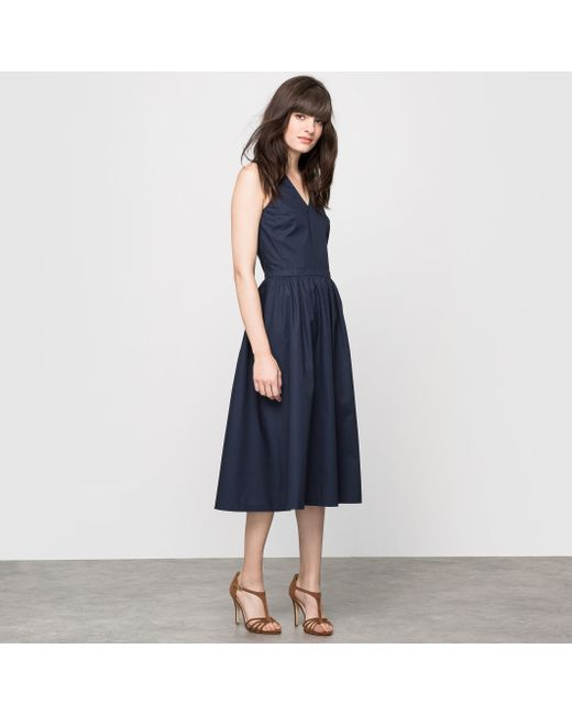 atelier R | Женское Синее Платье Без Рукавов С Американскими Проймами 100
