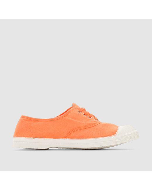Bensimon | Женские Оранжевые Кеды Tennis Lacets Femme