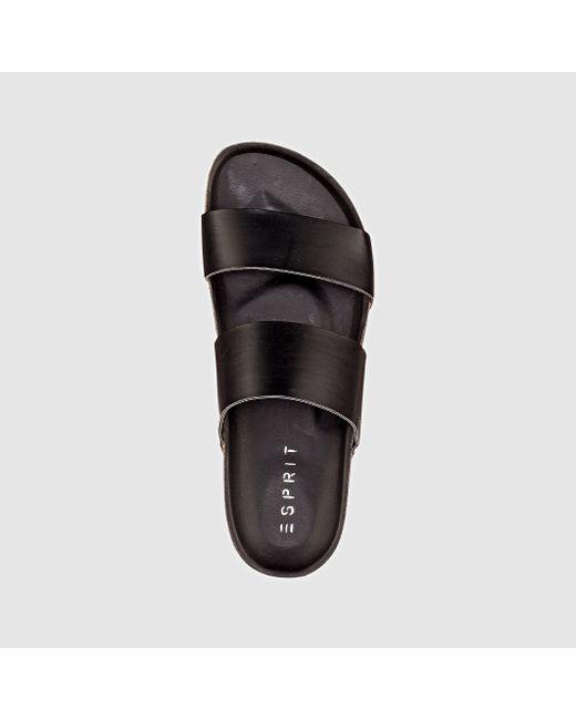 Esprit   Женские Чёрные Туфли Без Задника Блестящие Anita