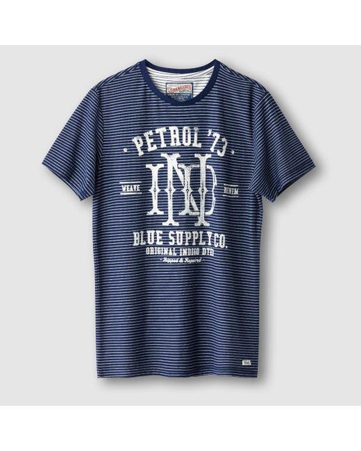 PETROL INDUSTRIES | Мужская Синяя Футболка Из 100 Хлопка
