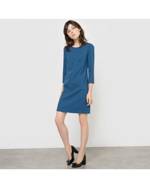 MADEMOISELLE R | Женское Синее Платье С Шахматным Узором