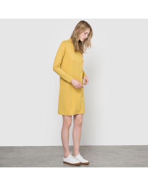 R essentiel | Женское Синее Платье Из Плотного Трикотажа