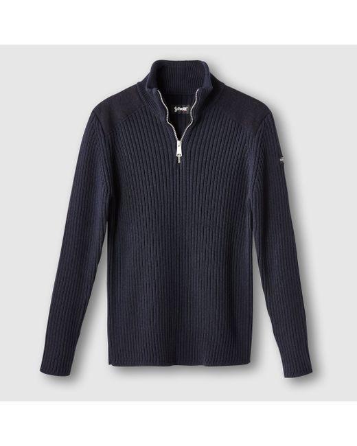 Schott | Мужской Синий Пуловер