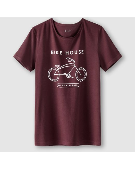 R édition   Мужская Сливовая Футболка С Рисунком Bike