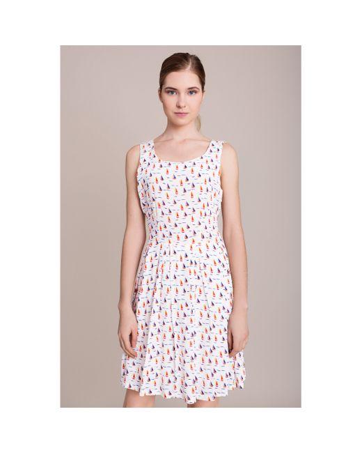 MIGLE+ME | Женское Белое Платье Без Рукавов Migle And Me