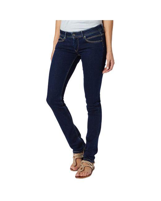 Pepe Jeans London | Женские Синие Джинсы Узкие Ariel
