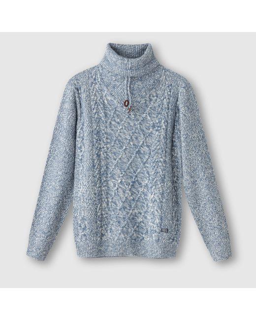 PETROL INDUSTRIES | Мужской Синий Пуловер С Высоким Воротником
