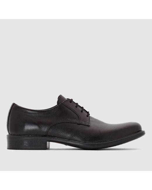 Geox | Мужские Чёрные Ботинки Из Кожи