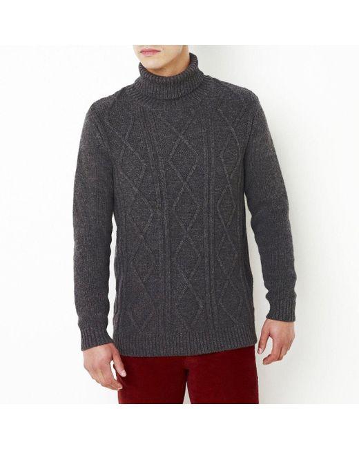R jeans | Мужской Серый Пуловер 30 Шерсти