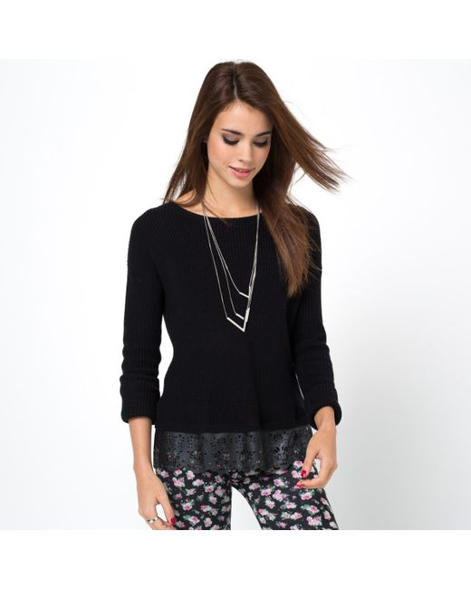 Мини-цена   Женский Чёрный Пуловер